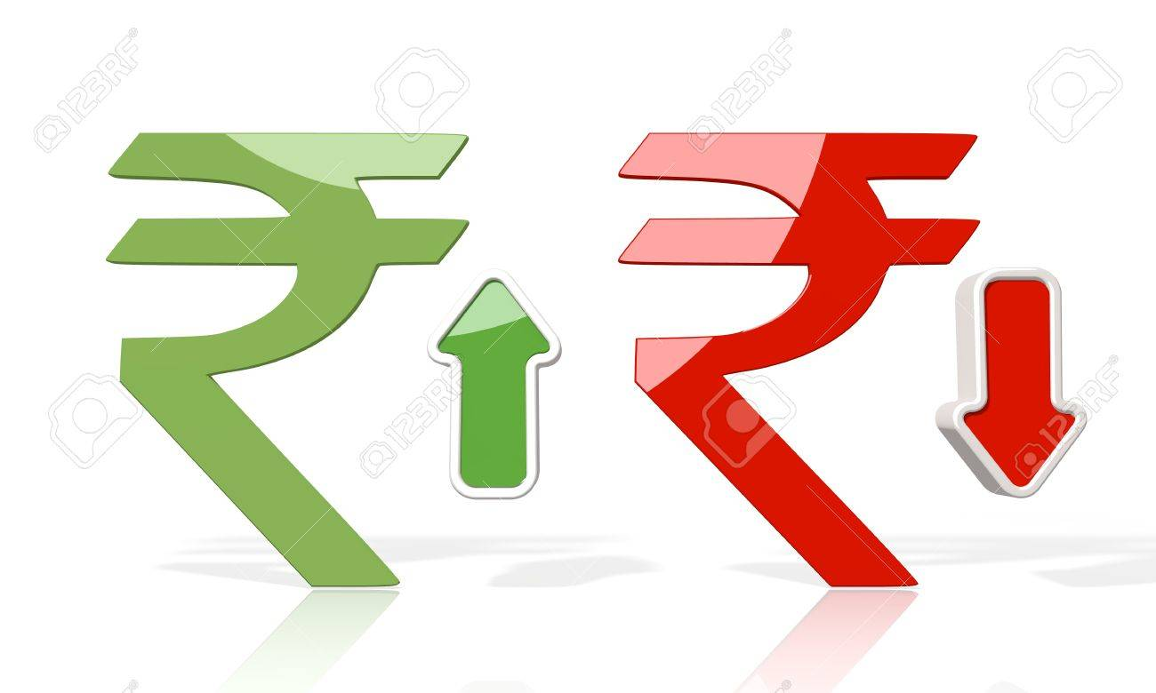 3d icon of pakistan rupee symbol with up and down stock market 3d icon of pakistan rupee symbol with up and down stock market rate trend arrows isolated biocorpaavc