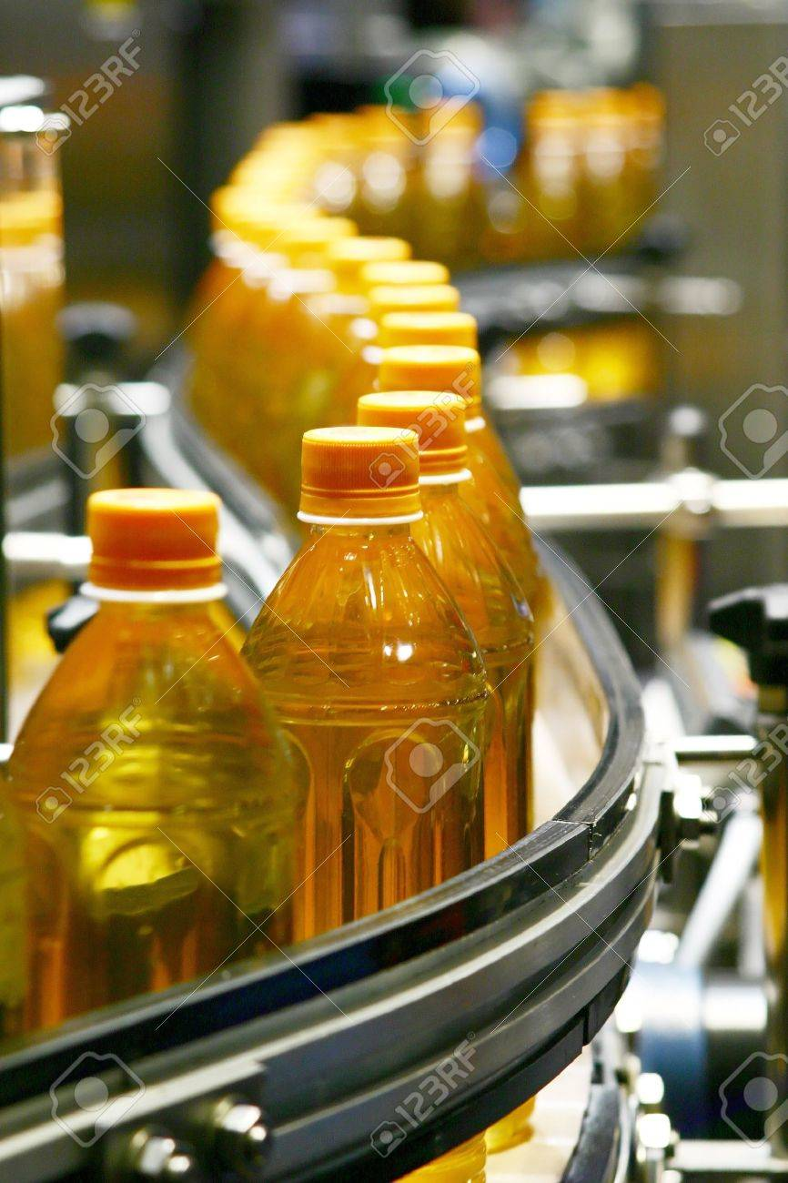 liquid filling machines and packing in industry plant Stock Photo - 13104508