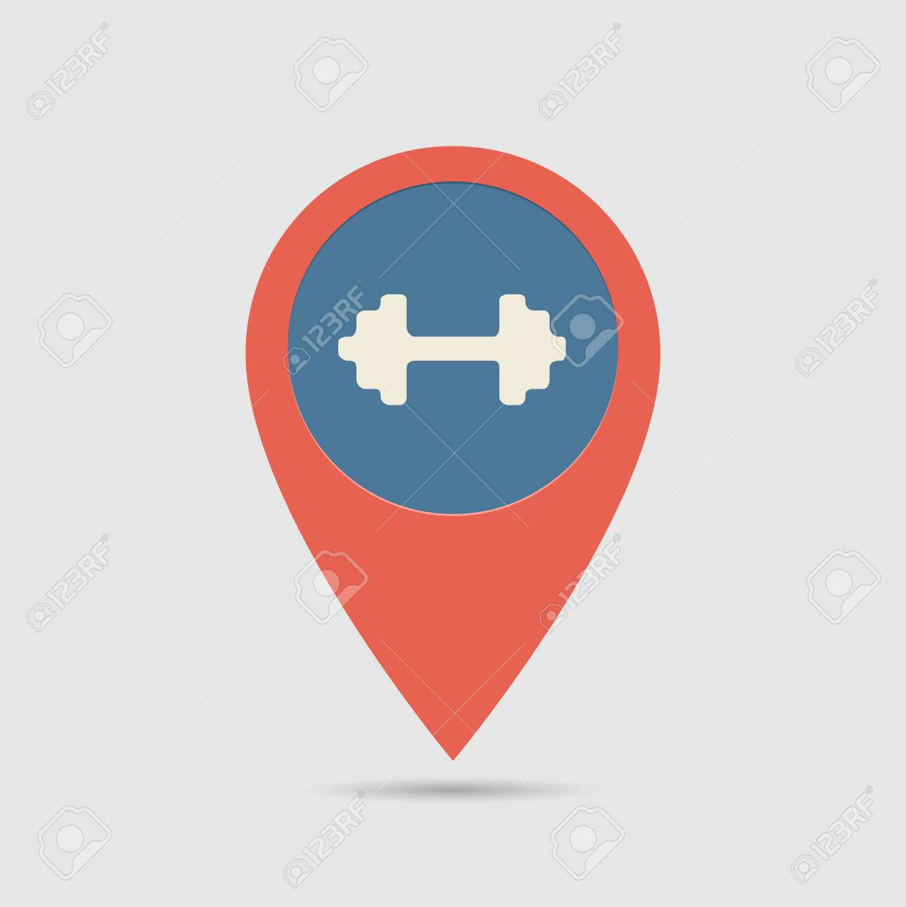 d6b3ed77e08af Map Pin For Gym Location | Map Marker, Pointer | Gym, Fitness, Sport