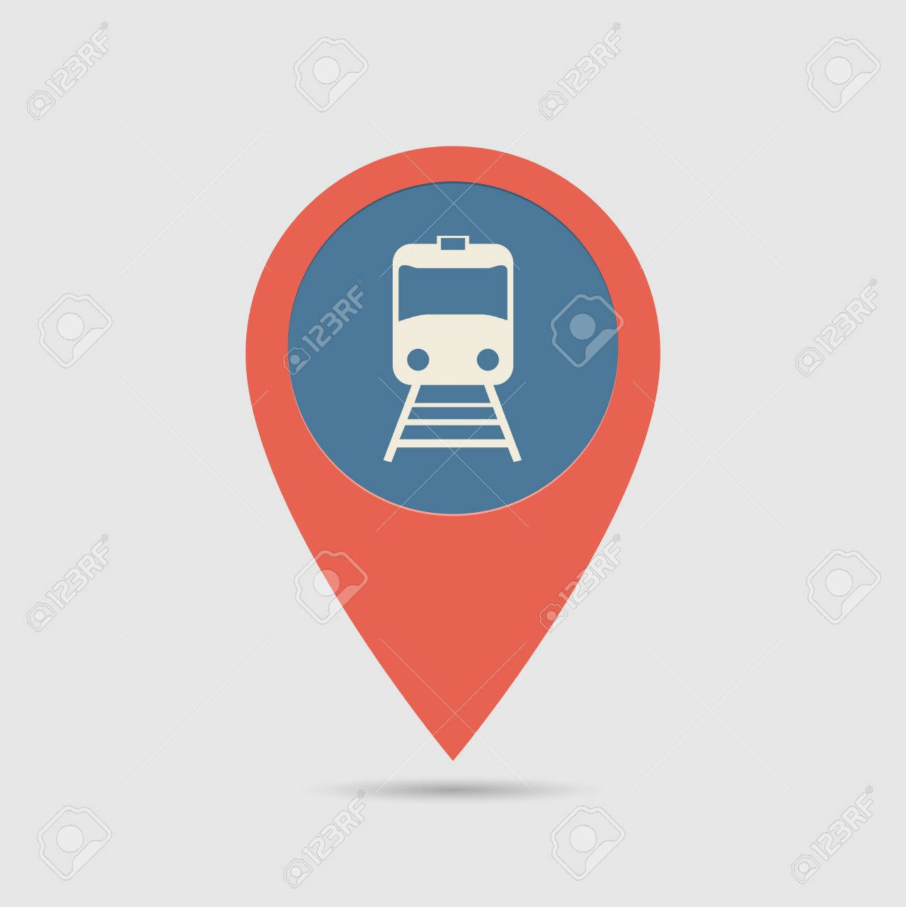 Railway Location Map Map Pin For Railway Station Location | Map Marker, Pointer
