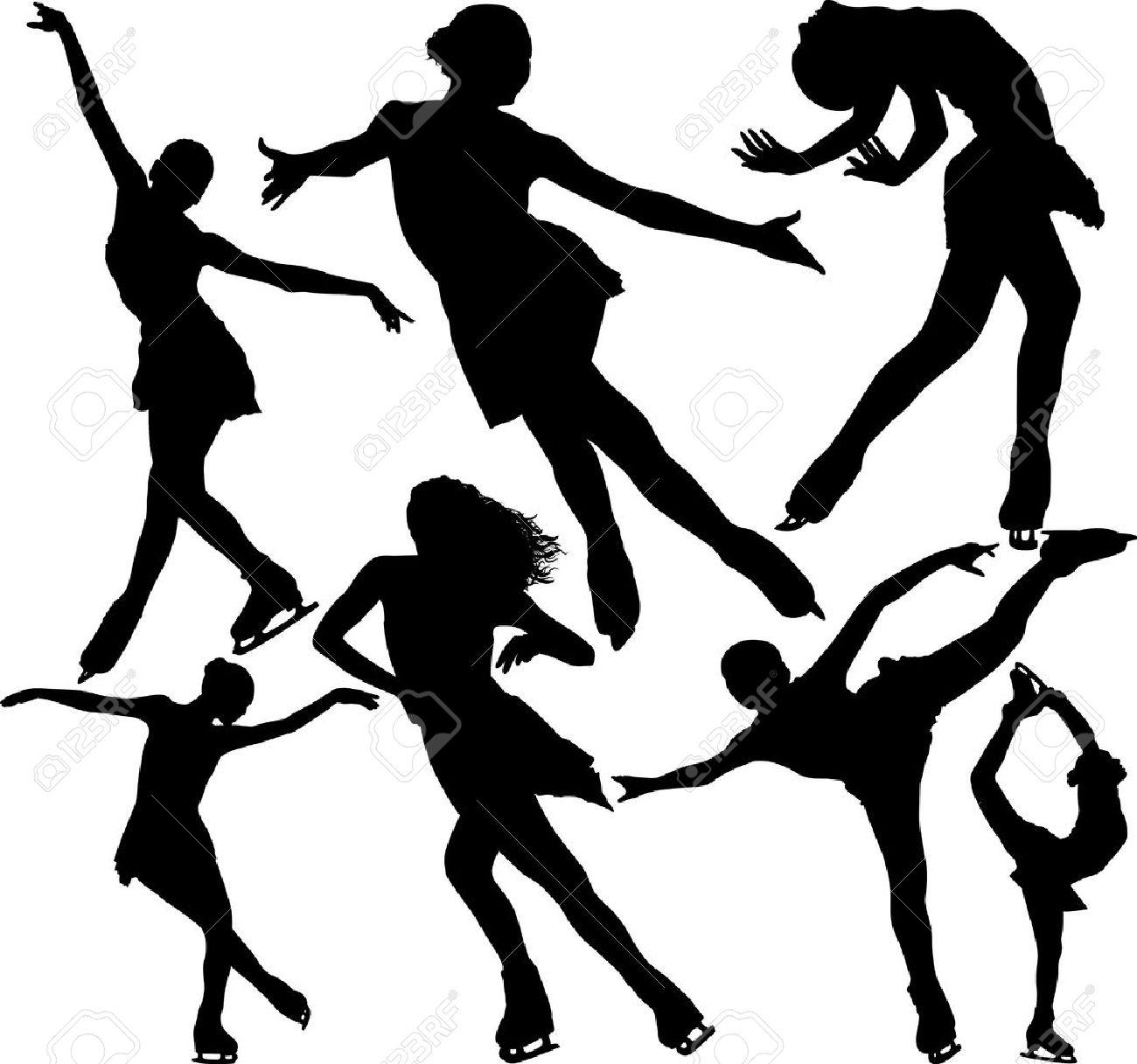 Figure Skate Drawing Figure Skating Vector