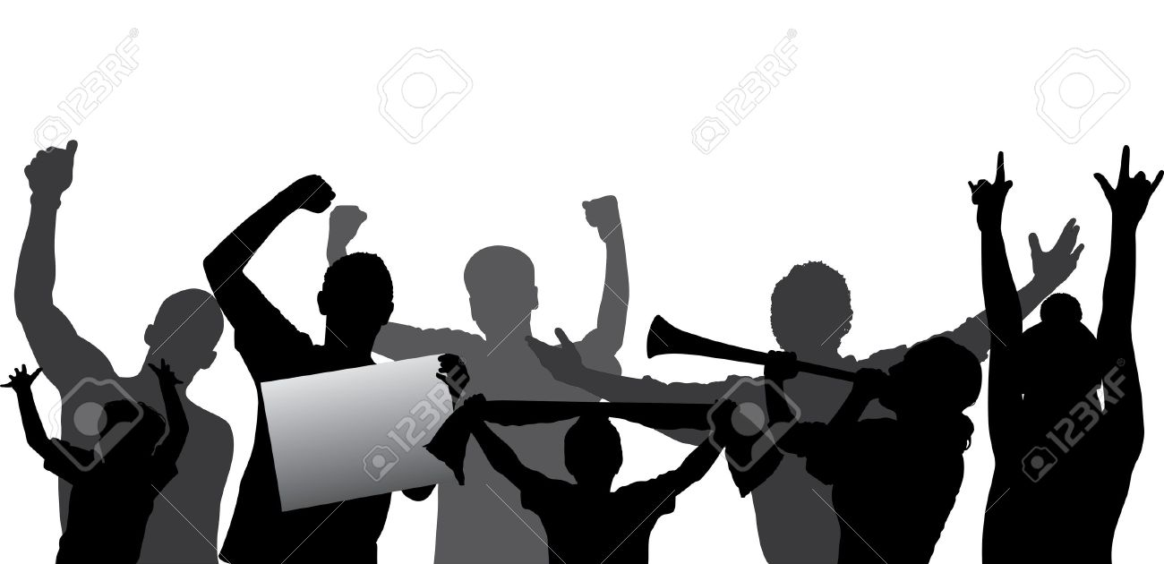sports fans cheering crowd silhouette layered every figure rh 123rf com crow vector crow vector