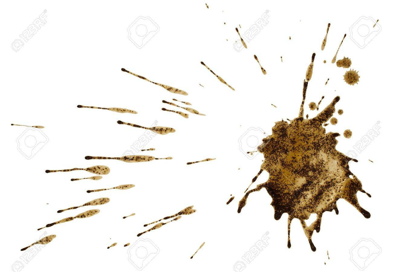 Coffee or mud splash isolated on white background  Clipping path Stock Photo - 21479364