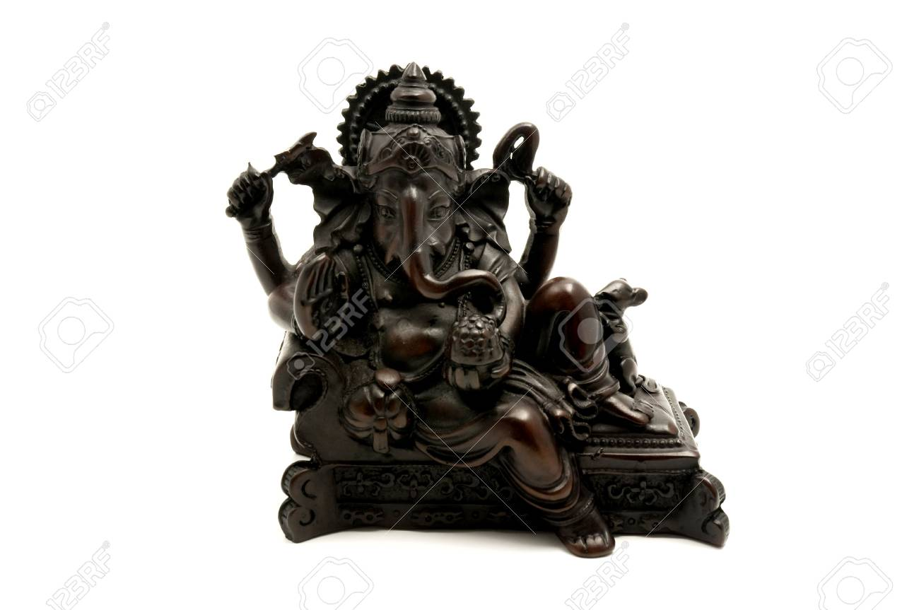 Statue of the hinduist god Ganesha on a white background Stock Photo - 6062212