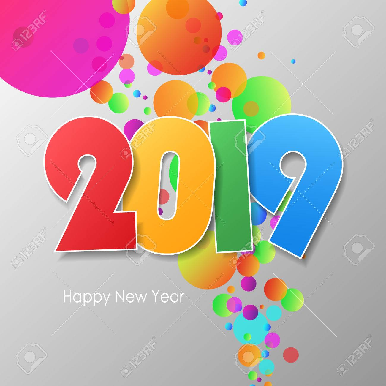 Simple greeting card happy new year 2019 vector illustration simple greeting card happy new year 2019 vector illustration stock vector 46072328 m4hsunfo