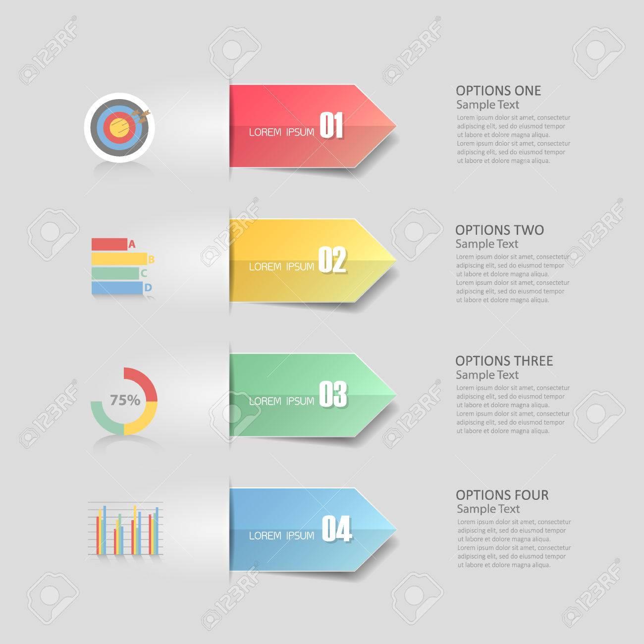 Modèle De Conception Infographie 4 étapes Pour Le Concept De Bussiness