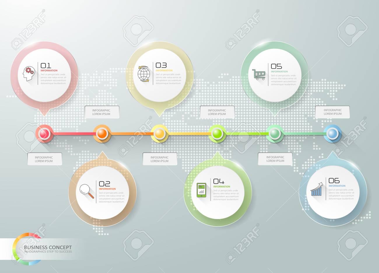 ビジネス タイムライン インフォ グラフィック インフォ グラフィック