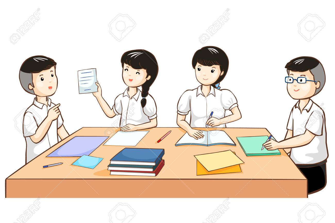 student work together in group vector illustration royalty free rh 123rf com Student Studying Clip Art Student Thinking