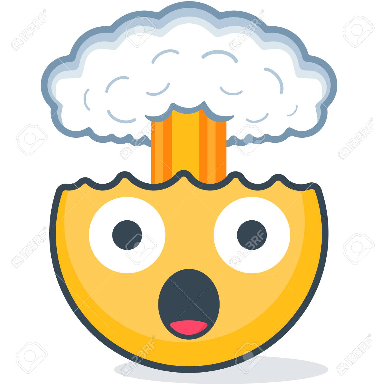 Isolated head explosion emoticon. Vector emoticon. Isolated emoticon - 96715432
