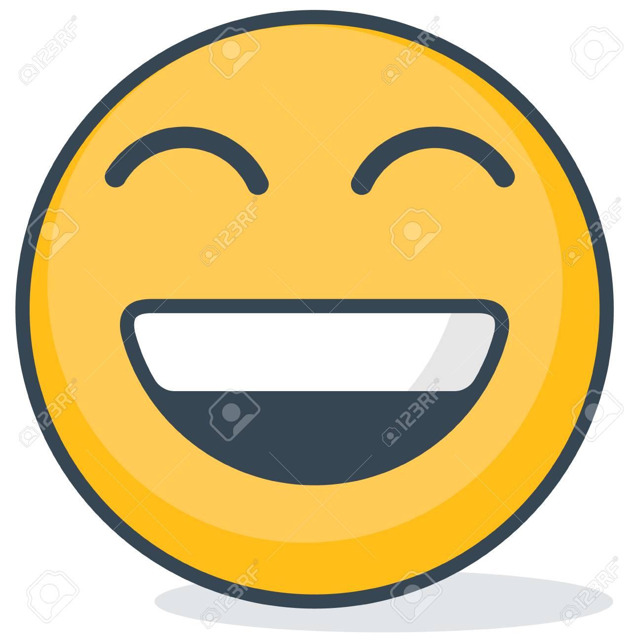 Isolated happy emoticon. Isolated emoticon. - 98622751