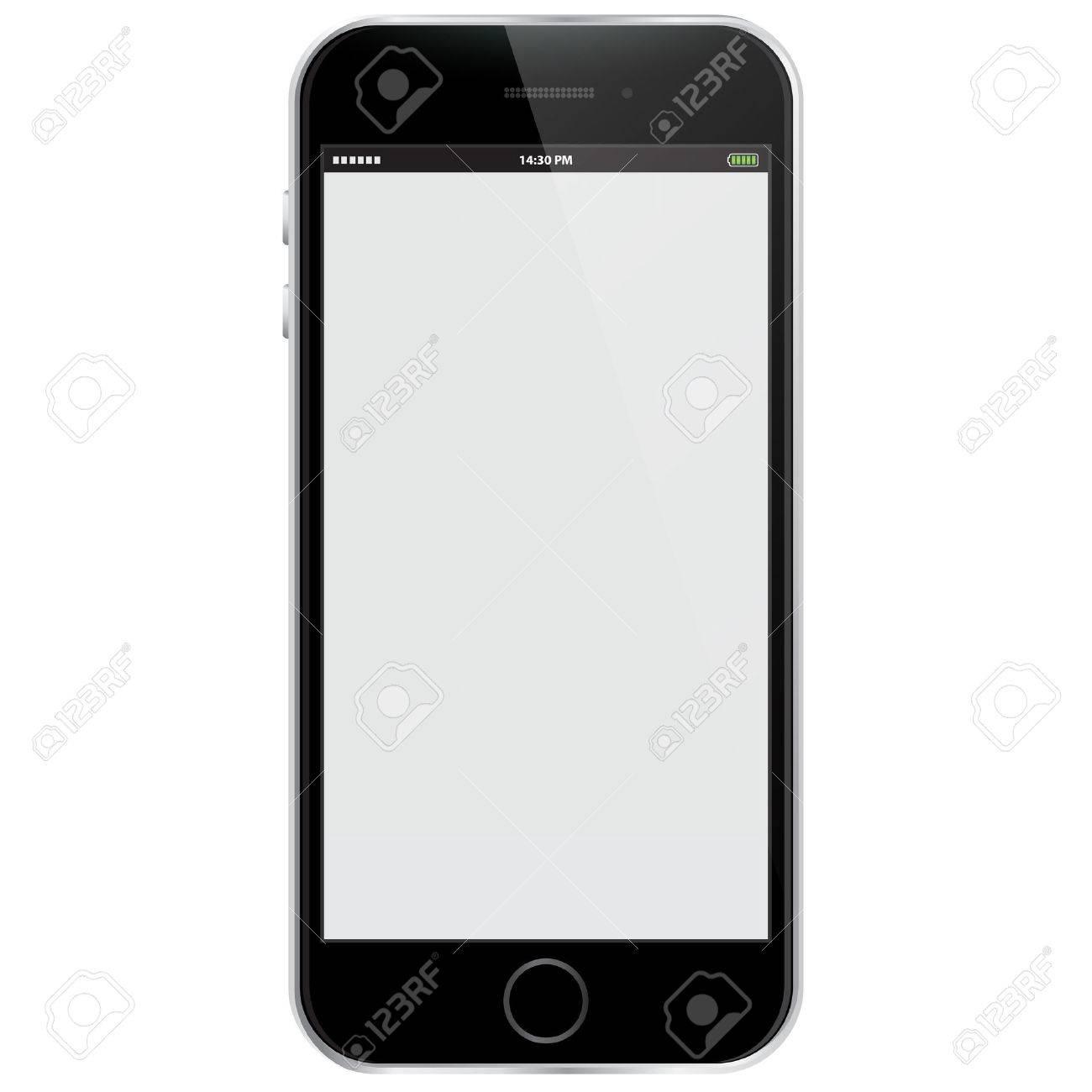 Realistic Vector Mobile Phone - Black - 45723231