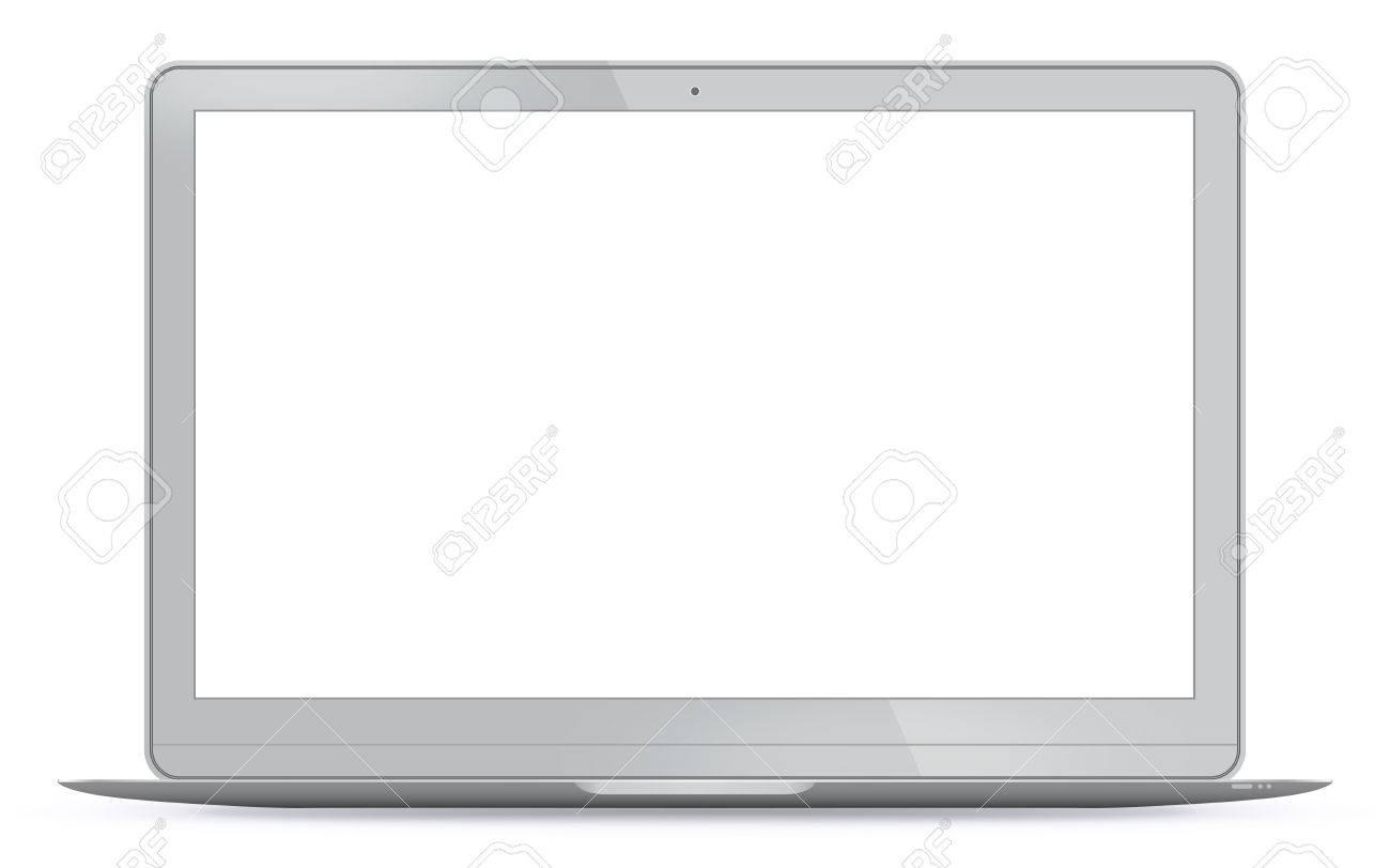 Modern Laptop Vector Illustration. - 47211330
