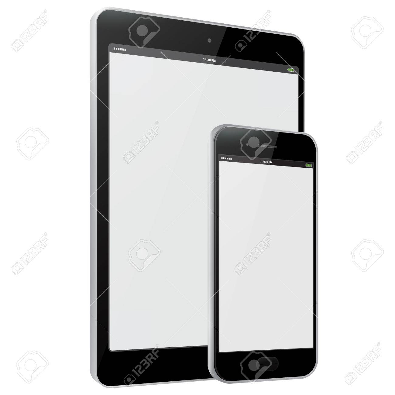 Mobile Phone and Tablet PC Vector illustration - 47256577
