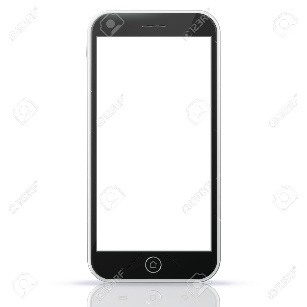 Black Smart Phone Vector Illustration - 73964943