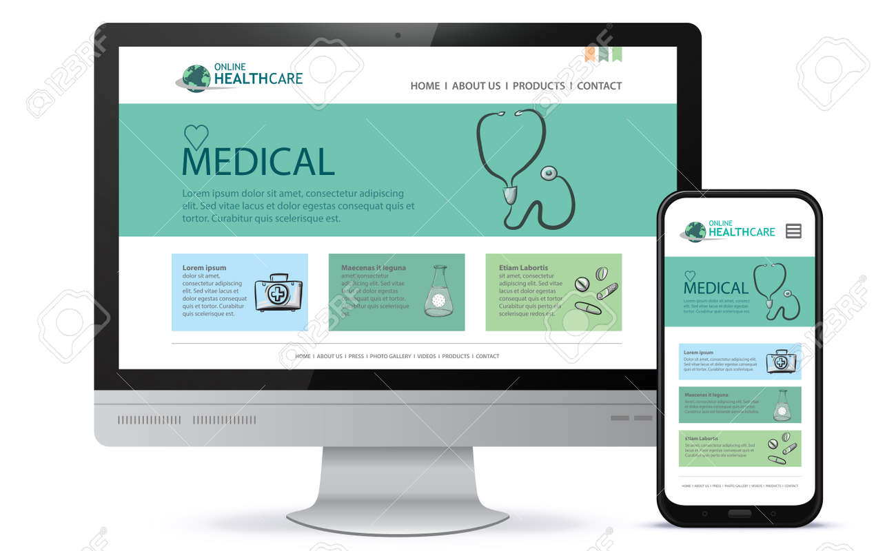 Healthcare and Medical User Interface Design for Web Site and Mobile App. - 154165723