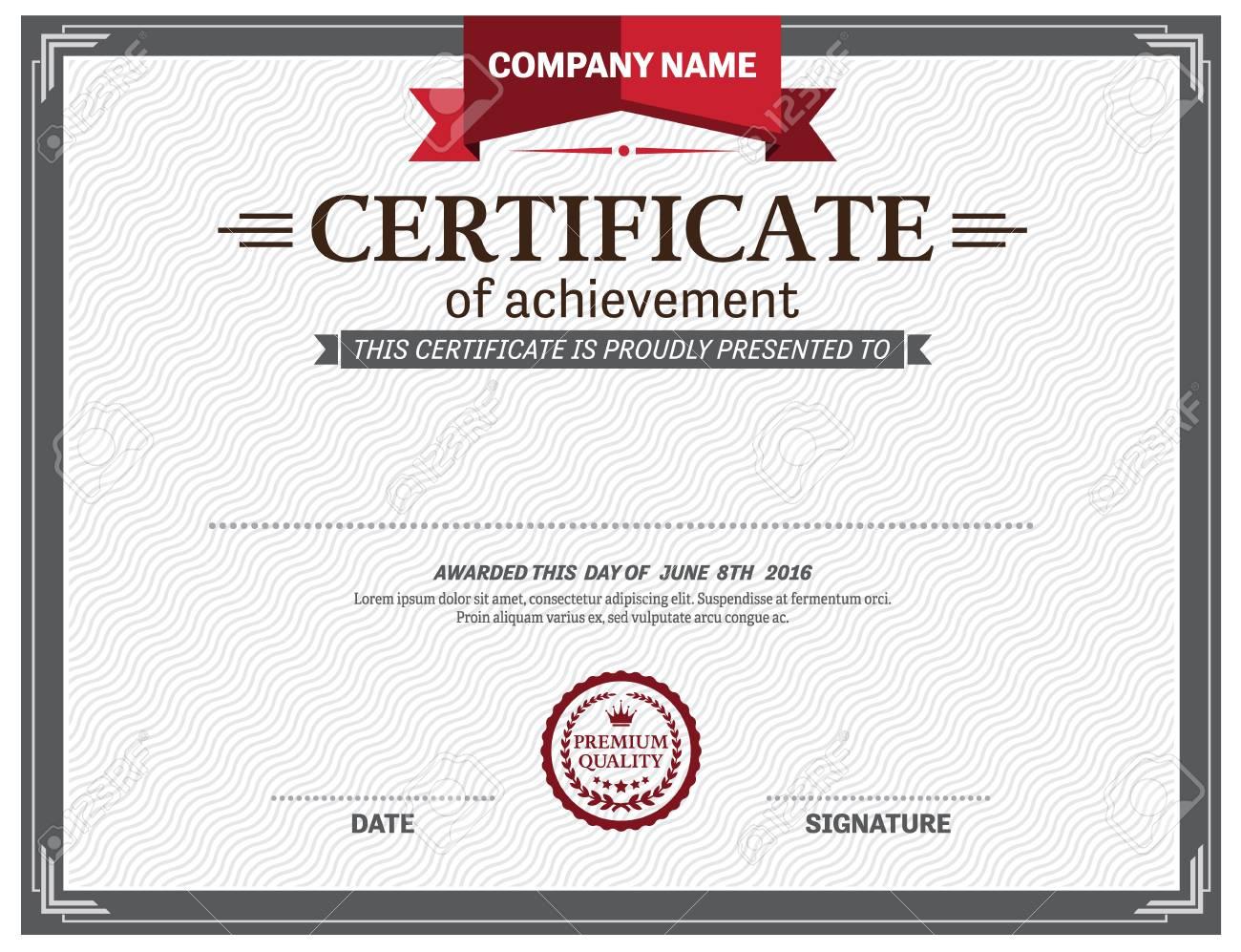 Ilustración Vectorial Plantilla De Diploma Certificado Ilustraciones ...