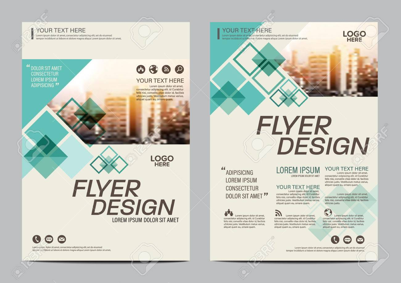 Plantilla De Diseño Folleto De Diseño Verde. Informe Anual Folleto ...