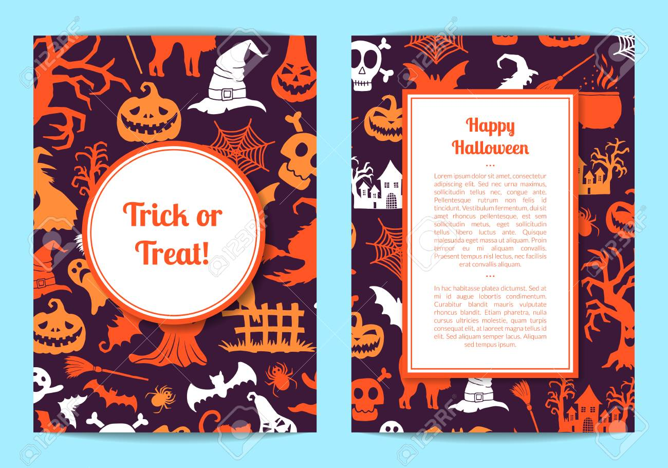 halloween card templates royalty free cliparts vectors and stock