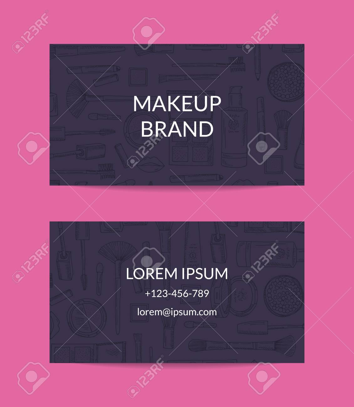 Vector business card template for beauty brand or makeup artist vector vector business card template for beauty brand or makeup artist accmission Choice Image