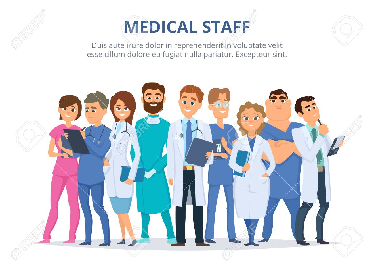 Group of male and female doctors. - 92252758
