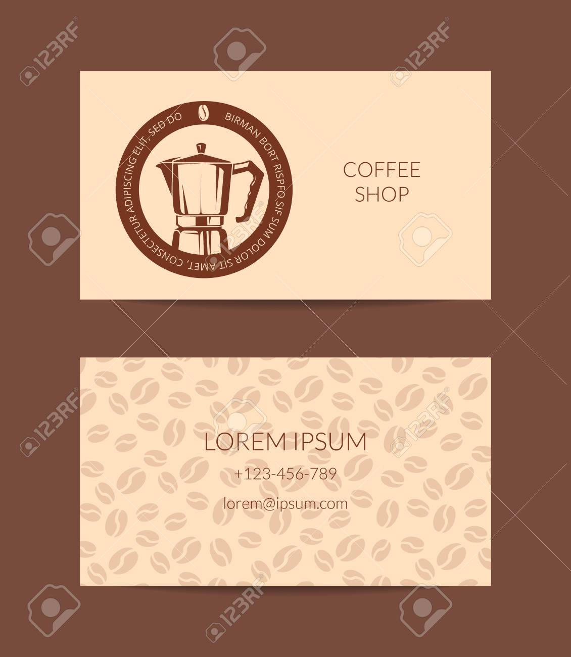 Vector coffee shop or company business card template royalty free vector vector coffee shop or company business card template accmission Gallery