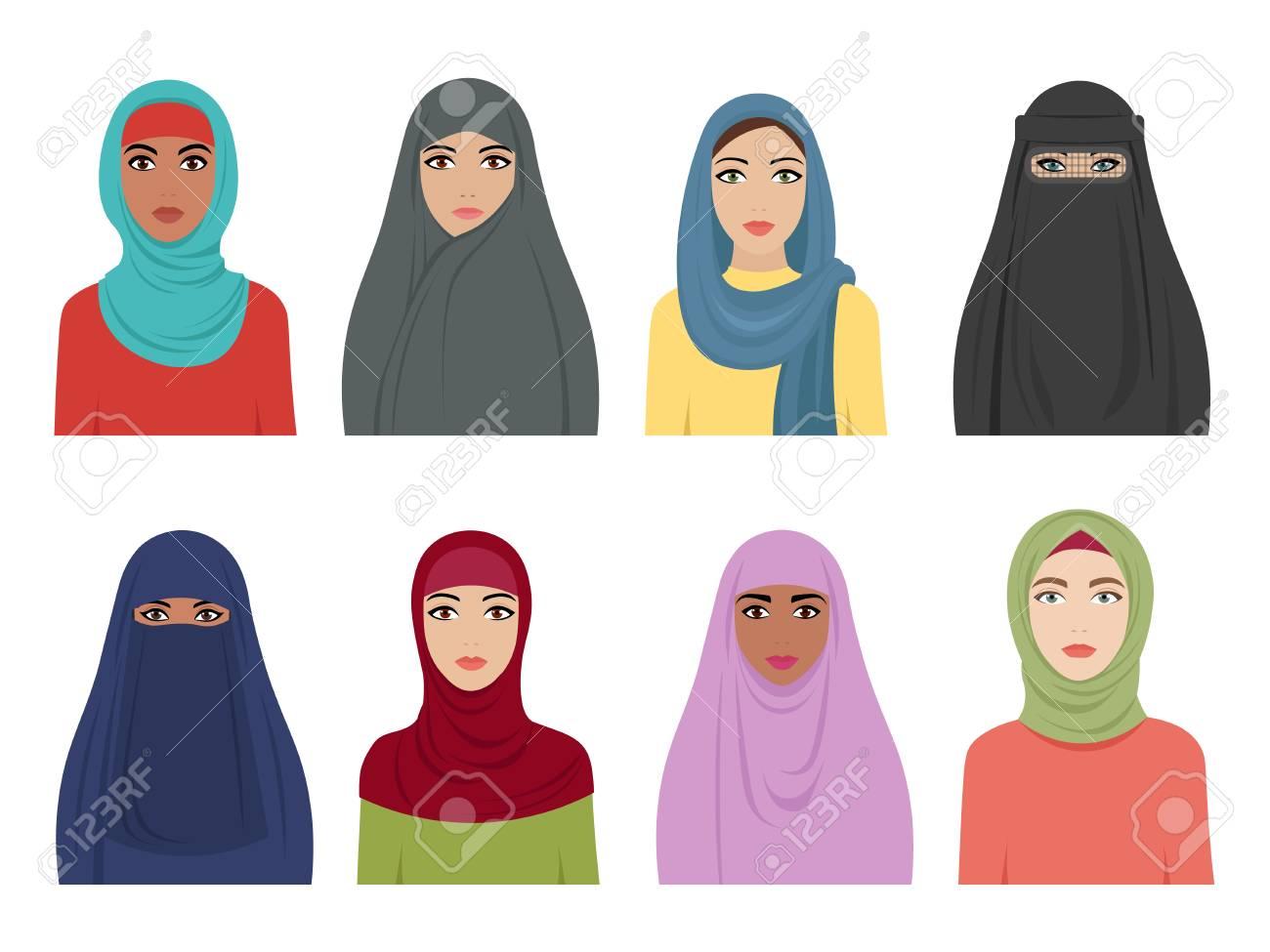 Muslim girls avatars  Islamic fashion for women iranian turkish