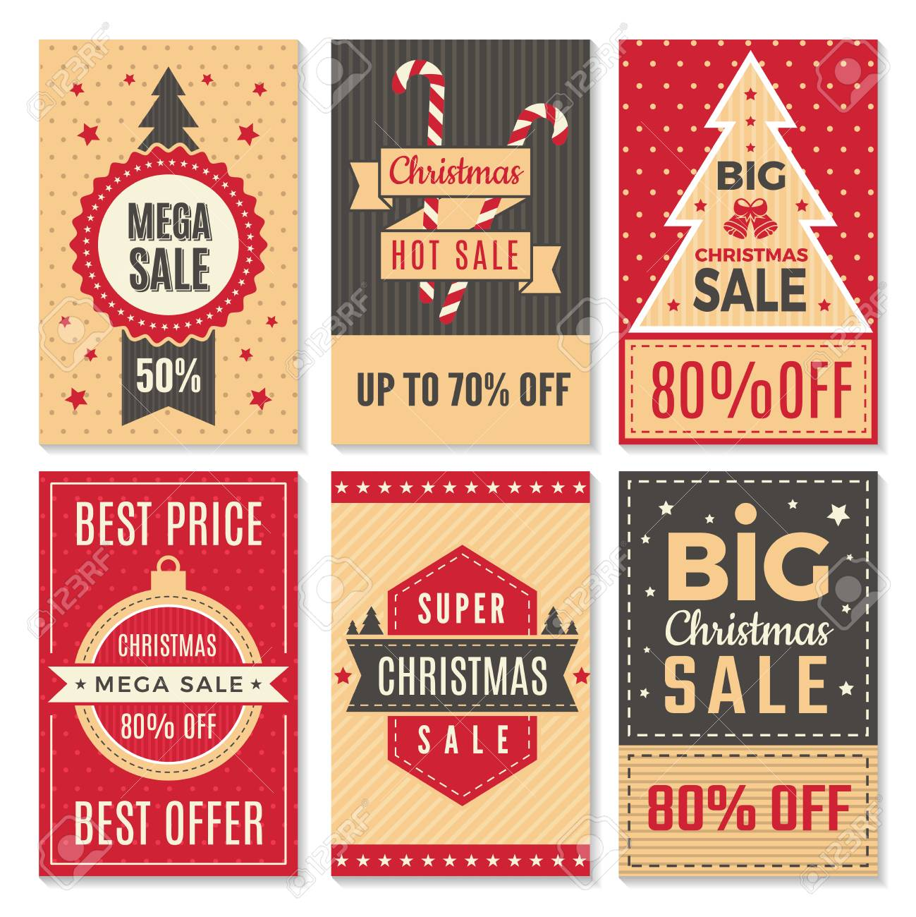 Christmas Sale Banners. New Year Special Offers And Discounts ...