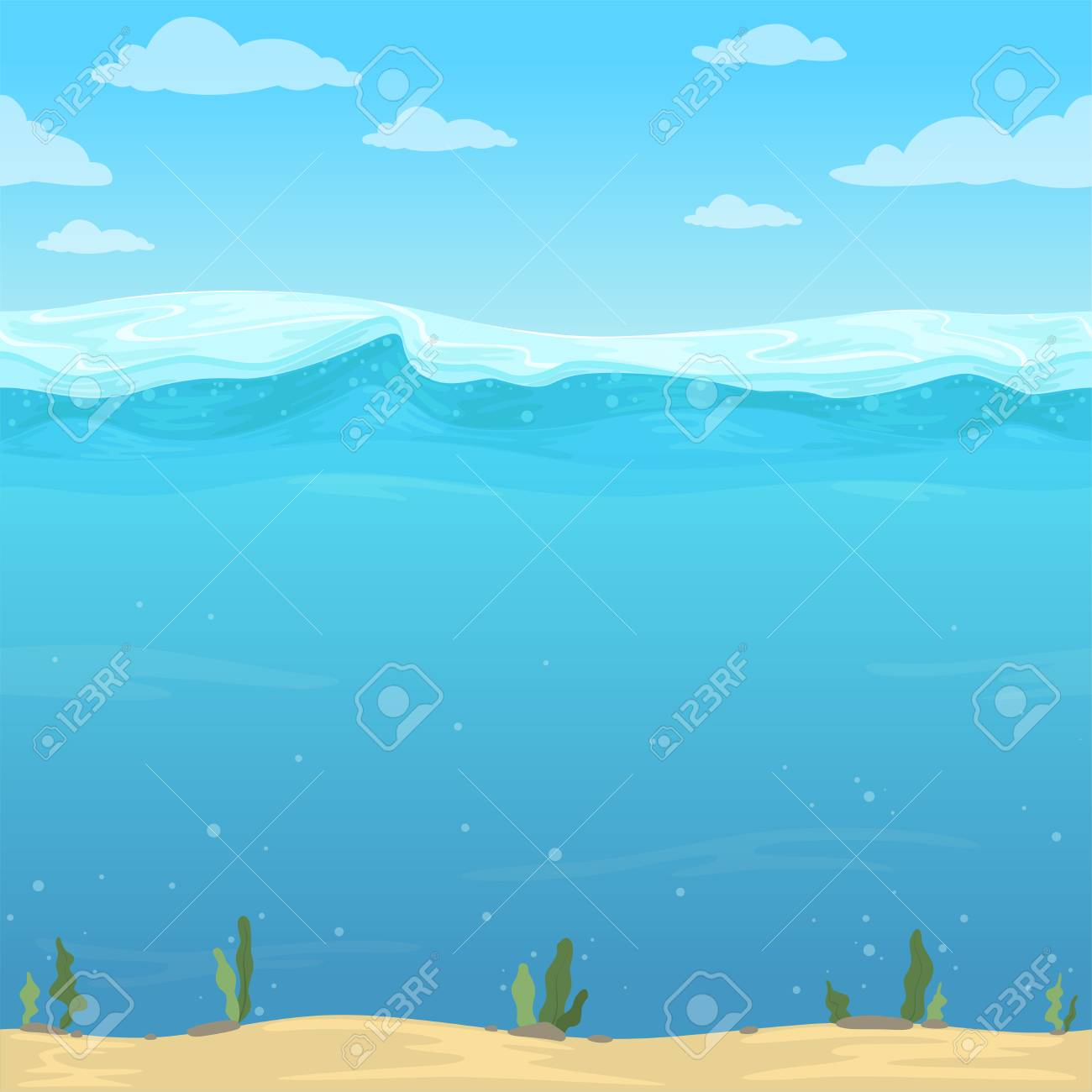 Water Waves Background Seamless Liquid Pattern Sea Ocean River