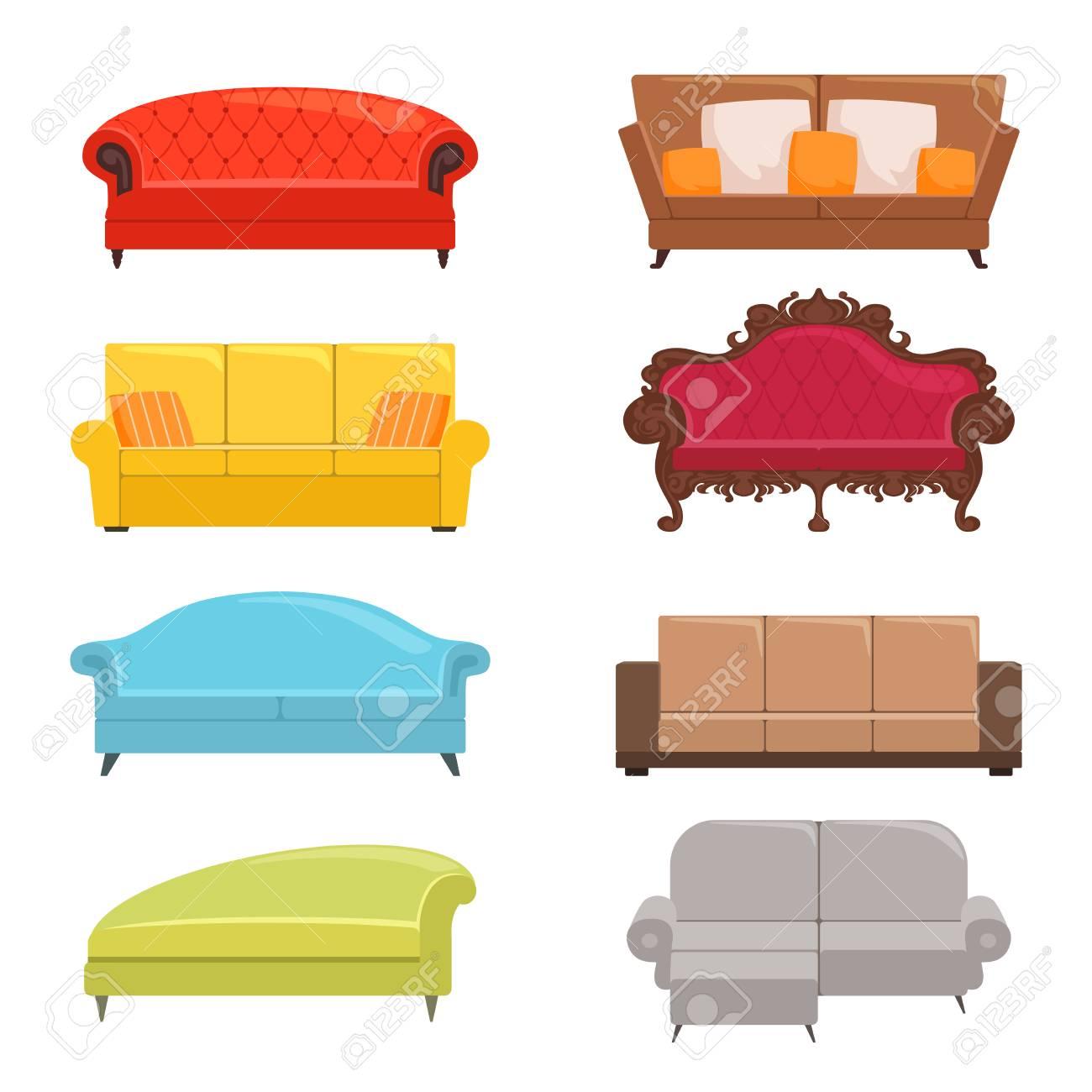Astounding Sofa Collection Bed Classic Divan Modern Coach Vector Interior Alphanode Cool Chair Designs And Ideas Alphanodeonline