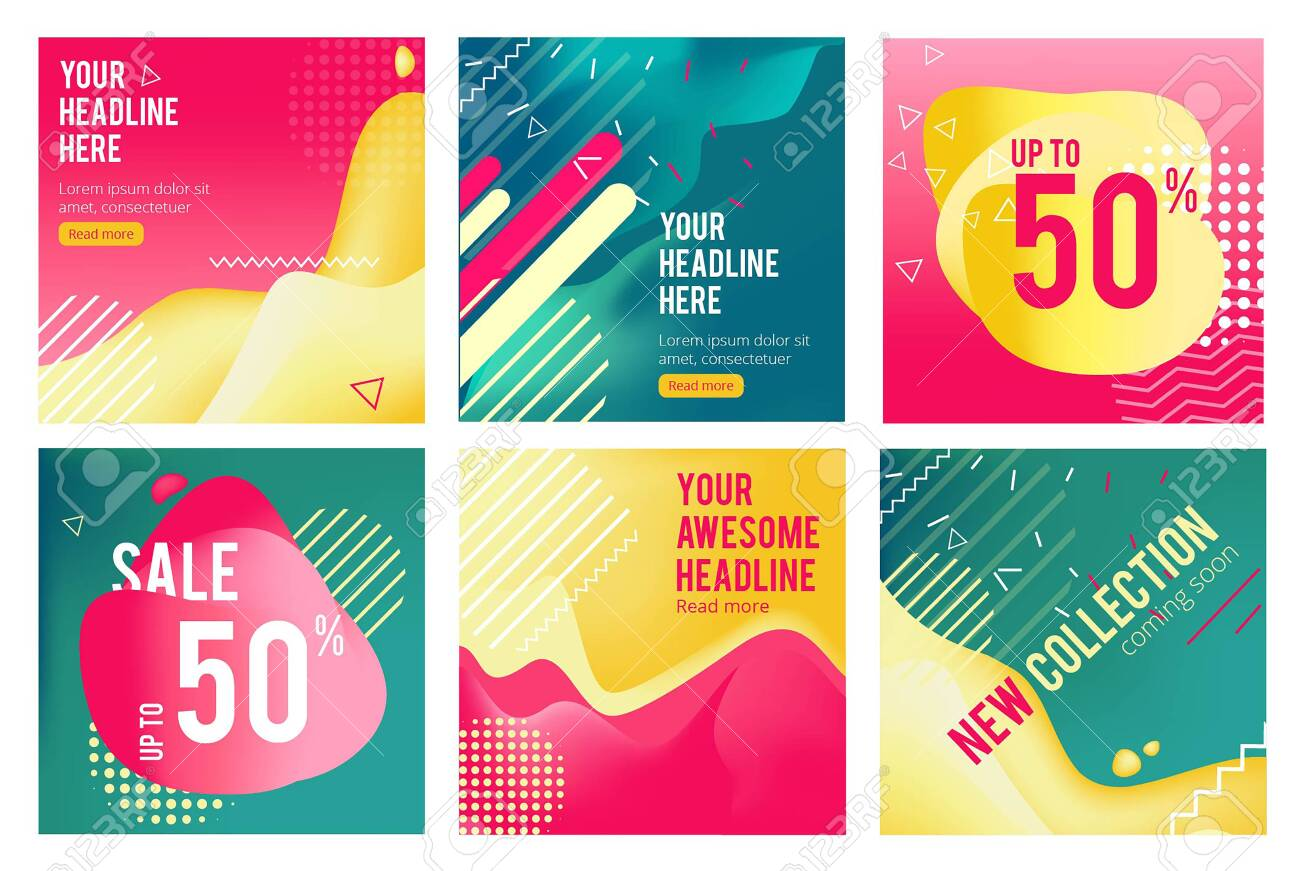 Offers banners  Prommotion square images for big sales social