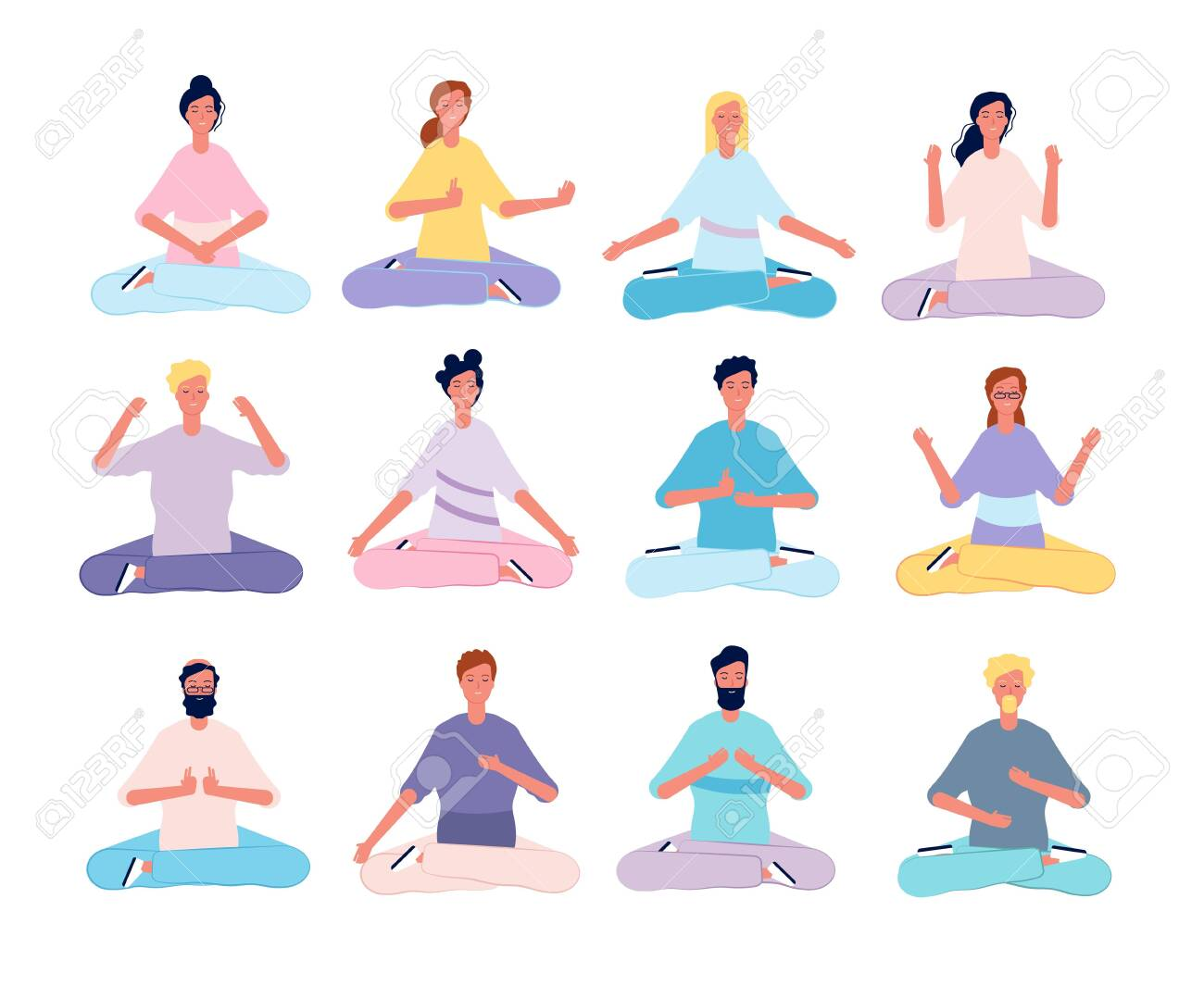 Yoga Asanas Meditation