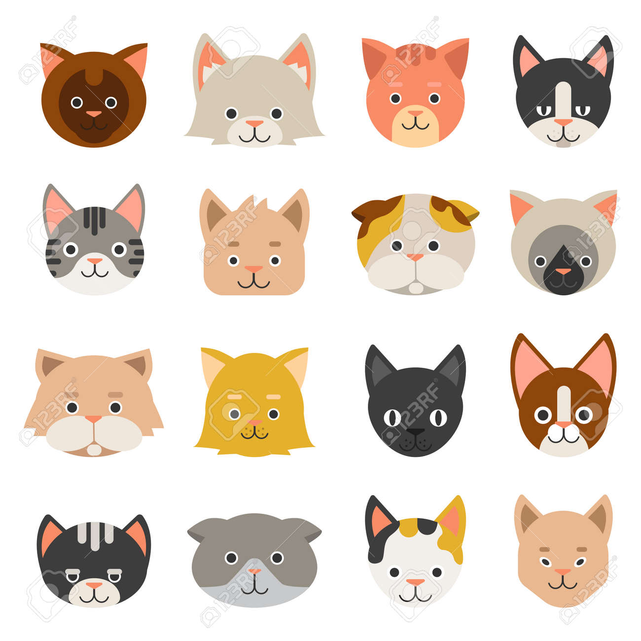Different faces of cats - 167394467