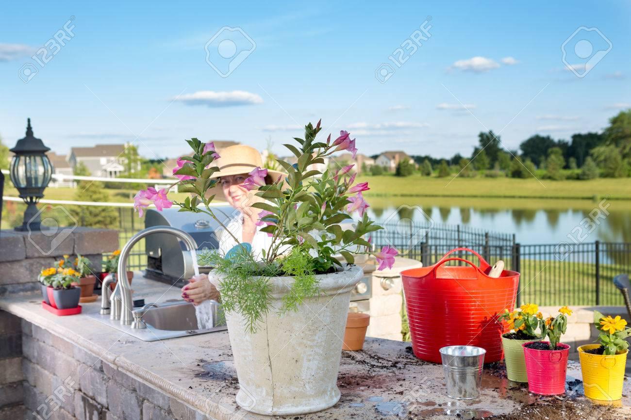 Sommerküche Für Terrasse : Terrasse mit sommerküche bild von villa les mimosas guest house