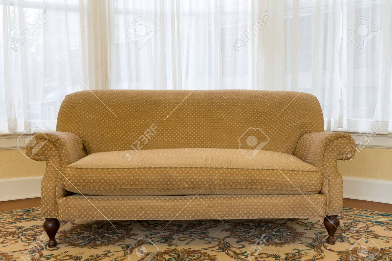 Astounding Close Up Empty Elegant Brown Couch Furniture At The Living Area Caraccident5 Cool Chair Designs And Ideas Caraccident5Info