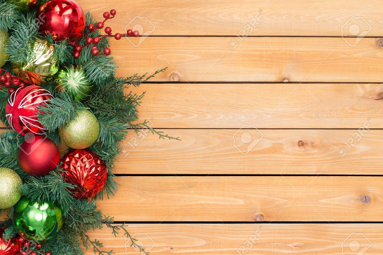 Festive Pine And Berry Christmas Garland With Red And Green Ornaments