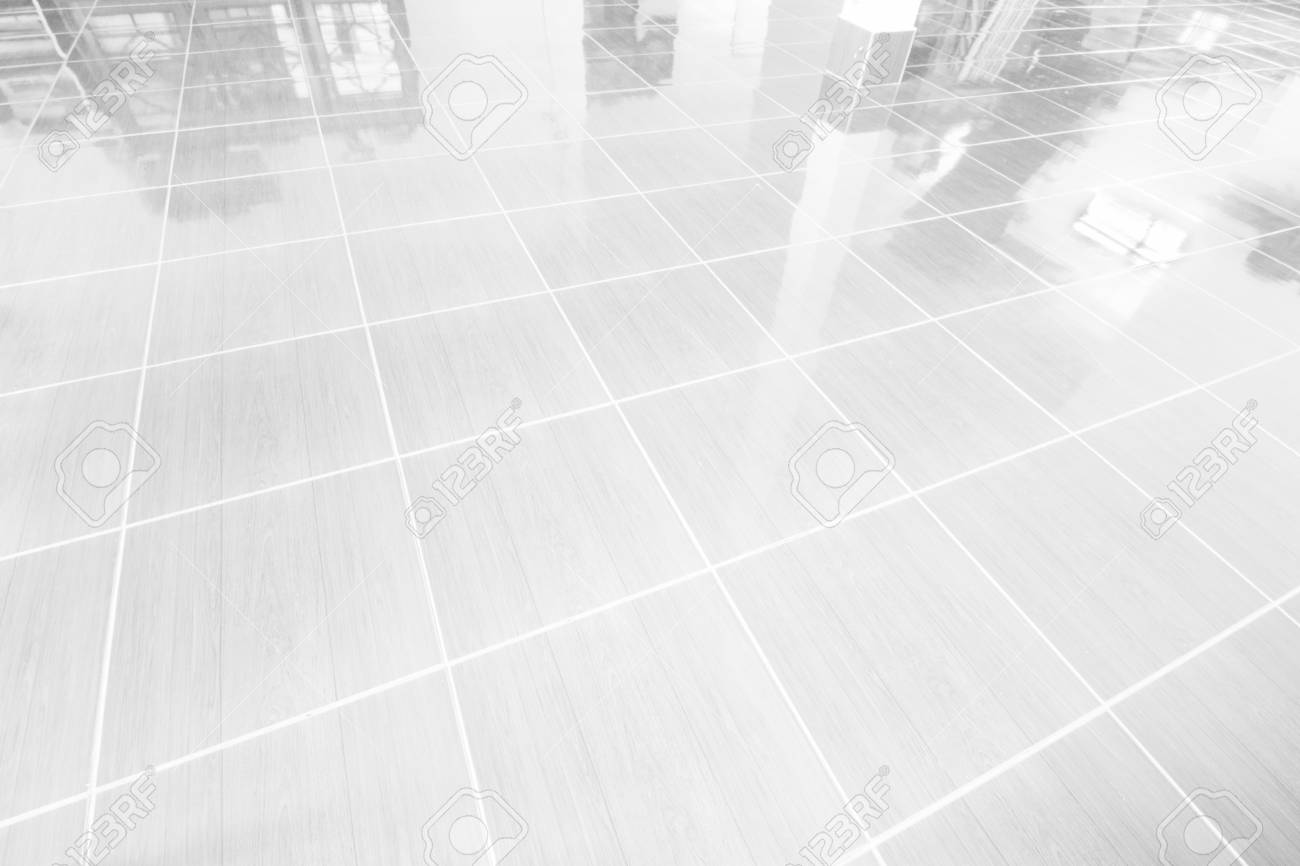 office tile flooring. Stock Photo - White Tile Floor Office With The Morning Sun, Windows Reflect Reflection. Flooring