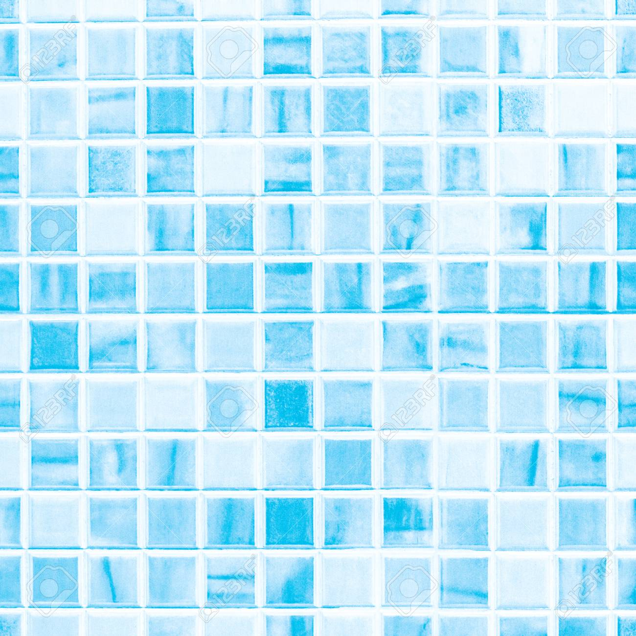 Blue Ceramic Tile Wall Texture Ideal For A Background And Used ...