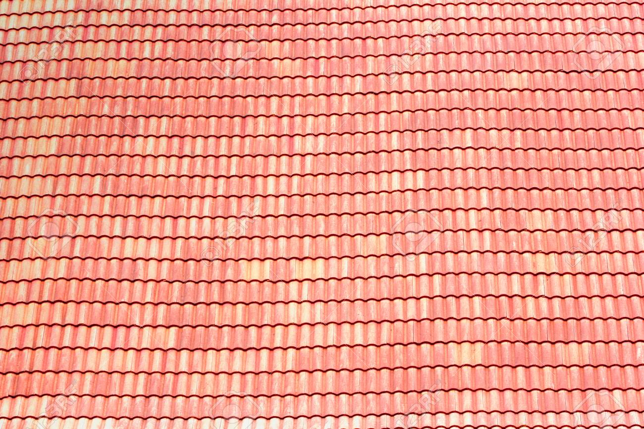 Red Roof Tile Roofing Be The Background In The Design It Is Stock Photo Picture And Royalty Free Image Image 101595683