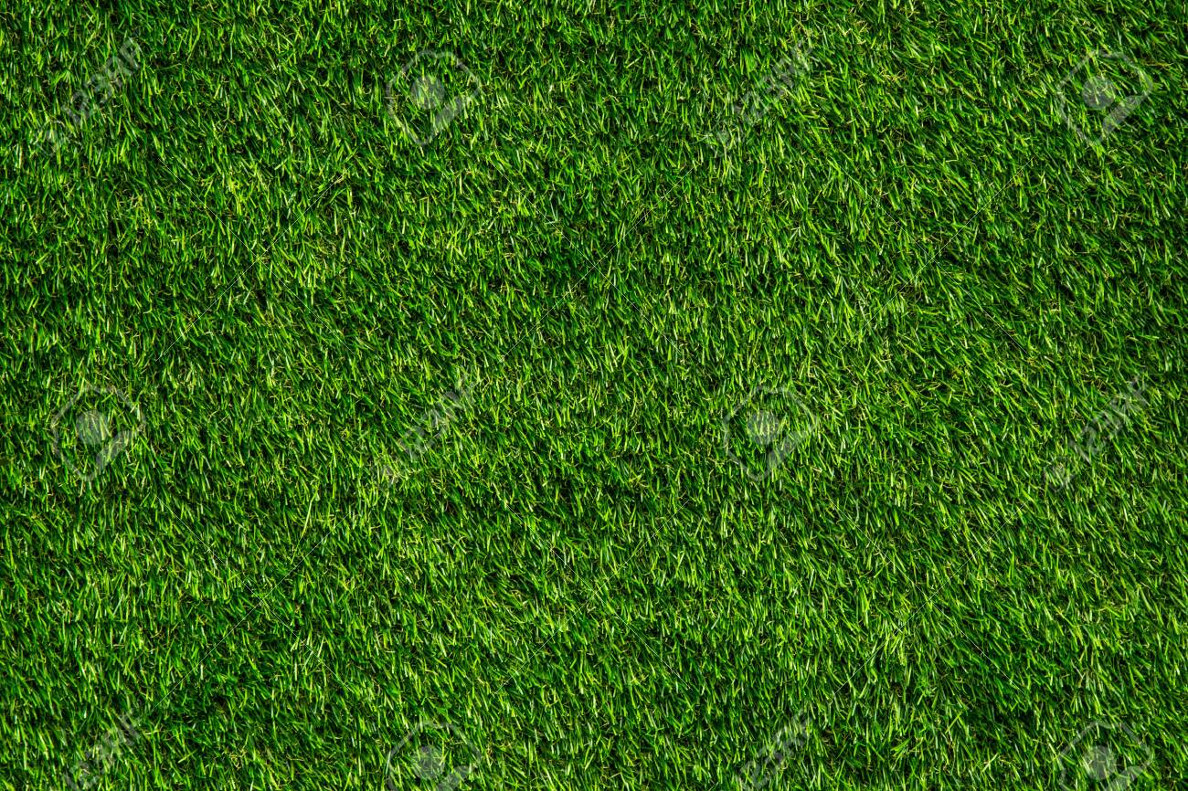 Green background of artificial turf For exterior design and business fairs. - 123602519