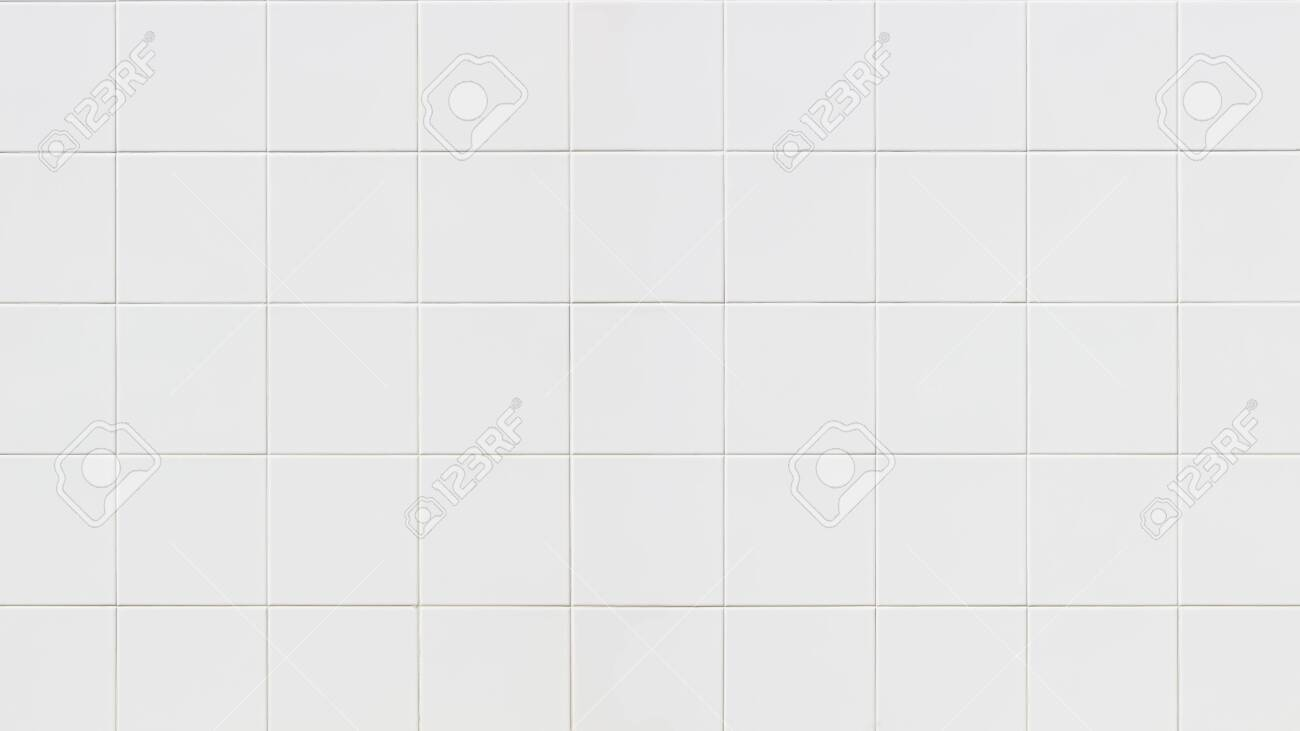 White Ceramic Tiles Wall Texture For The Decoration Of The Bedroom Stock Photo Picture And Royalty Free Image Image 135216302