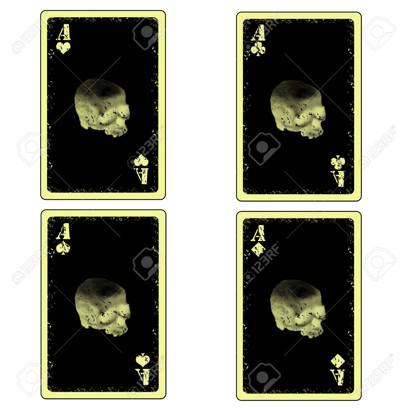 Vector Four Aces Playing Cards Icon Stock Vector - 26055734