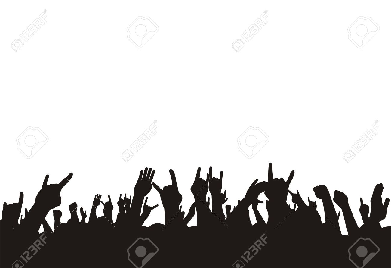 vector illustration crowd on concert Stock Vector - 3769046