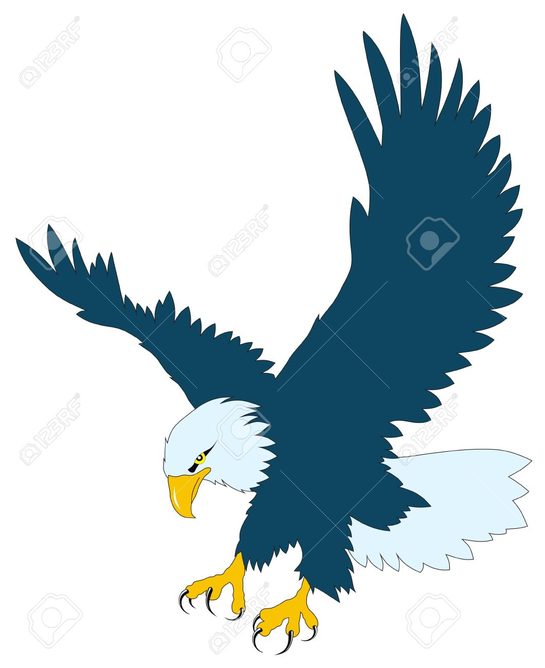 Color vector illustration of flying eagle Stock Vector - 4307637
