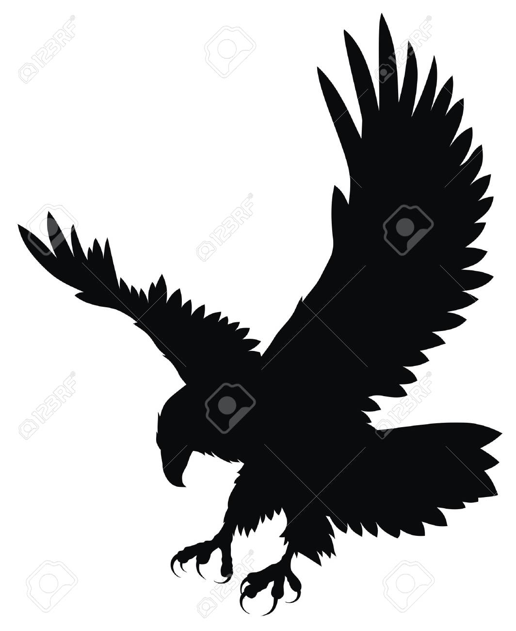 Abstract vector illustration of eagle Stock Vector - 4507015