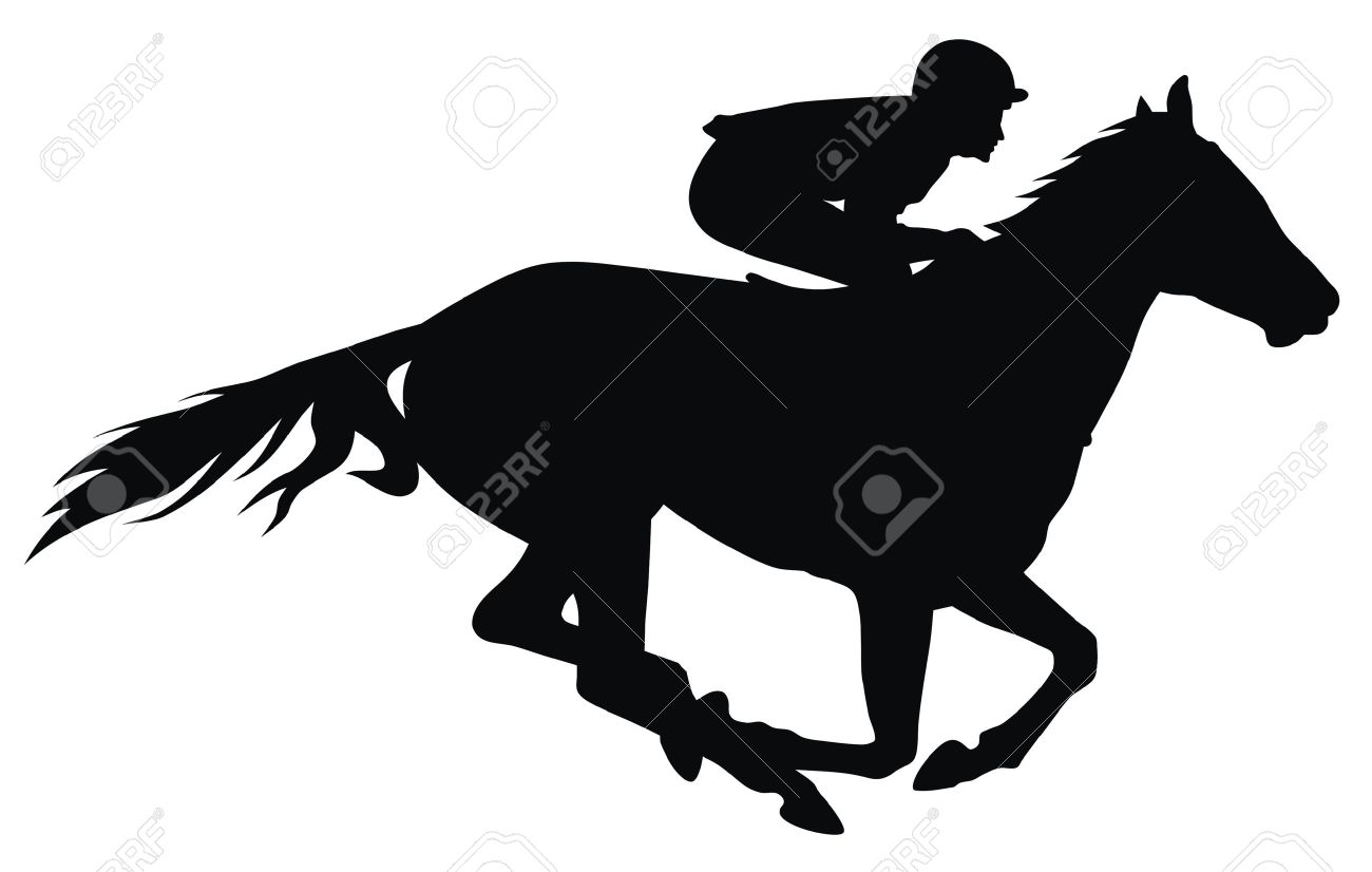 Galloping Horse Silhouette Rider Horse Silhouette