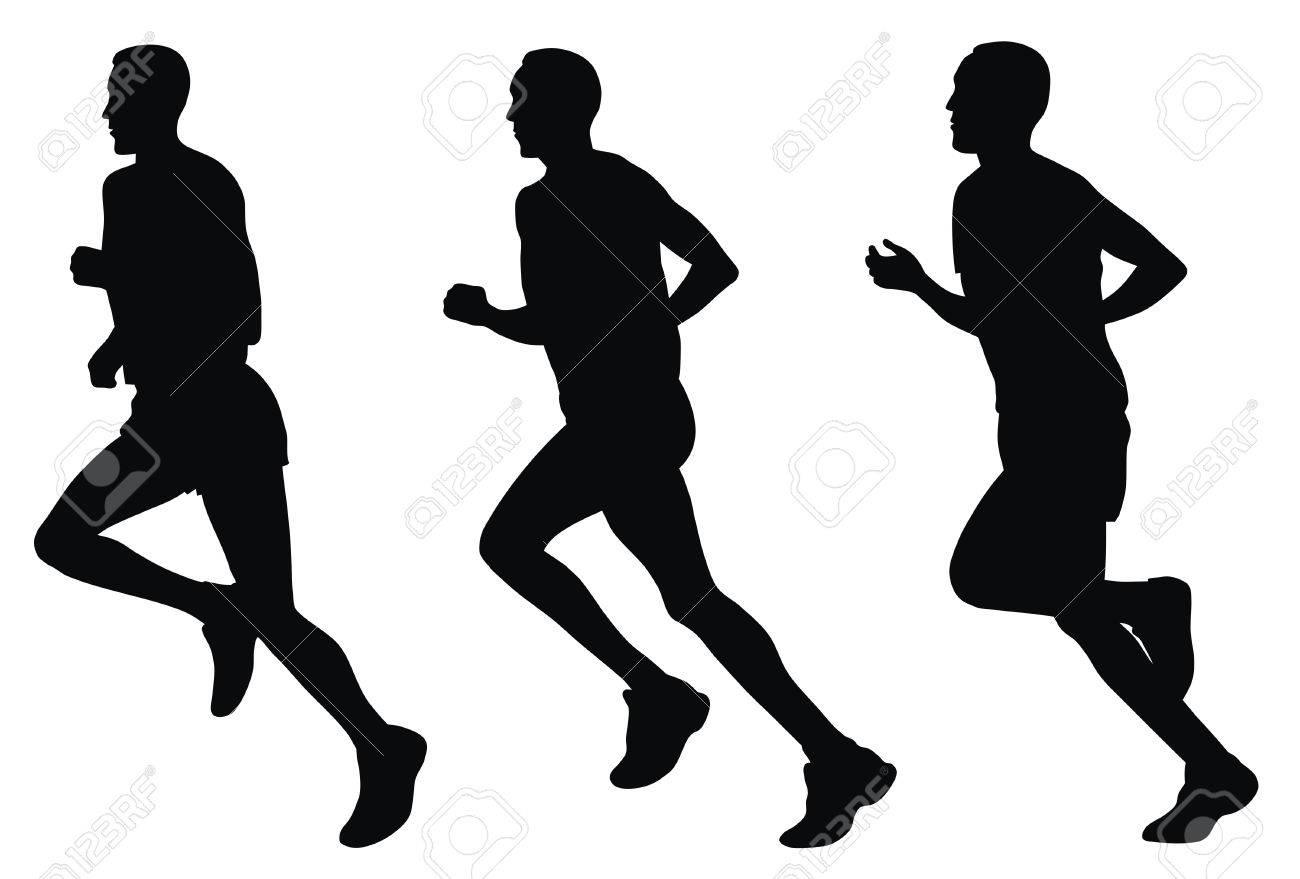 Abstract vector illustration of marathon runners Stock Vector - 4506983