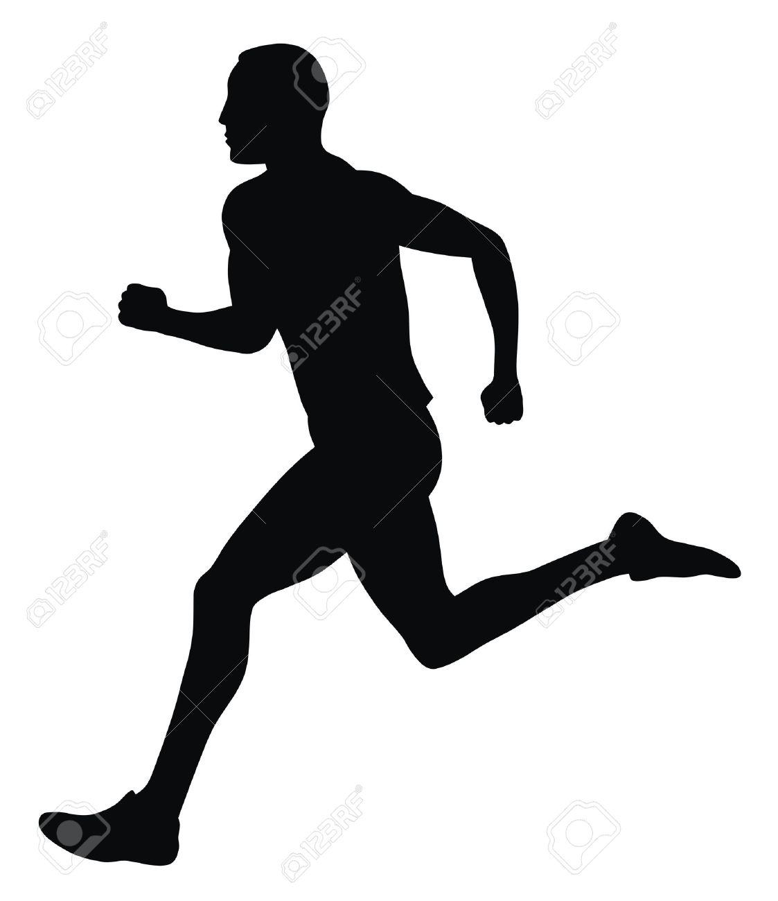 マラソン ランナーの抽象的なベクトル イラストのイラスト素材ベクタ