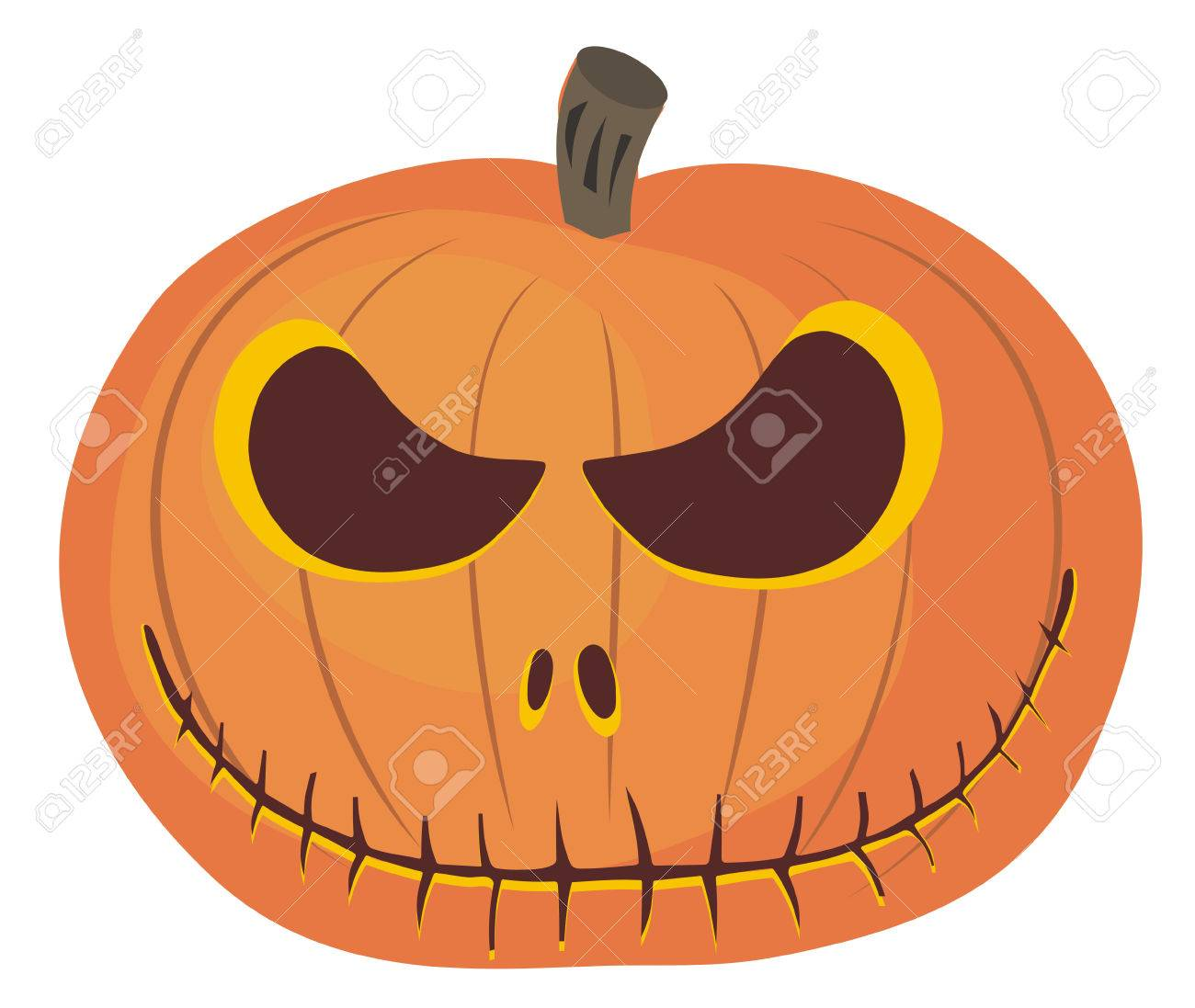Abstract vector illustration of halloween pumpkin Stock Vector - 5598758