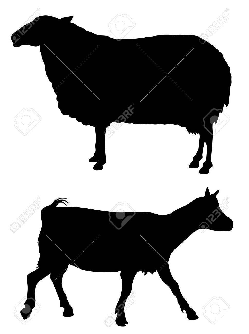 Abstract vector illustration of farm animals Stock Vector - 6251358