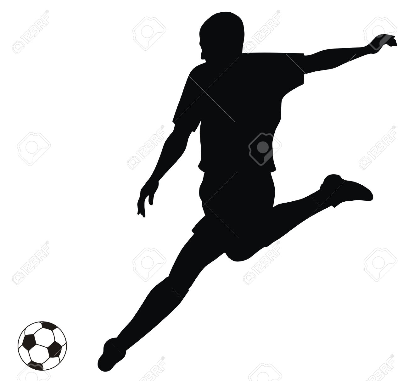 Abstract vector illustration of footbal player silhouette - 6574874